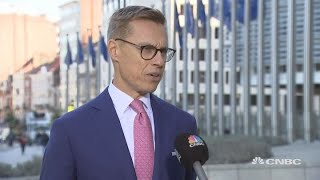 Download EU official to UK's May ahead of Brexit summit: 'Good luck'   Street Signs Europe Video