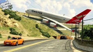 Download GTA 5✦Massive Air Plane A380✦Emergency Landing on Strange Place at Mountain Video