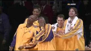 Download Shannon Brown AMAZING Block & Laker Bench Goin Nuts! Video