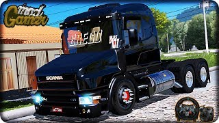 Download SCANIA 124G 400 BICUDA QUALFICADA - INTERIOR ORIGINAL - MAPA ELDORADO - ETS2 - VOLANTE G29 Video