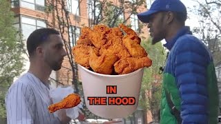 Download GIVING OUT FRIED CHICKEN IN THE HOOD Video