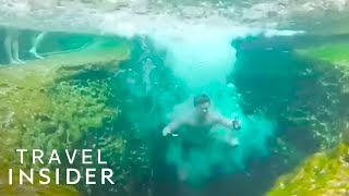 Download Natural Spring Is 100 Feet Deep Video