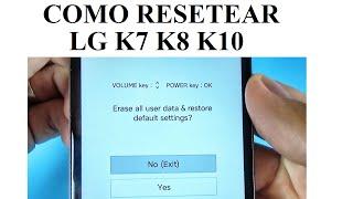 How to HARD RESET LG K7, K8, K10 Free Download Video MP4 3GP
