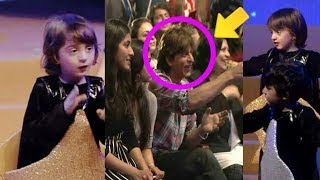 Download Dady Shahrukh Khan got emotional and cries when little AbRam danced on stage for him |Awwww Video