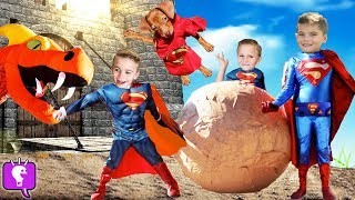 Download Giant DRAGON Smash Egg with SUPER PUPPY! Toy Surprises by HobbyKids Video