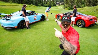 Download DRIVING SUPERCARS AS GOLF CARTS Ferrari 488 & Porsche GT3RS *Predator Ridge* Video