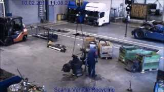Download Scania Vehicle Recycling - Chassis dismantling in 10 minutes Video