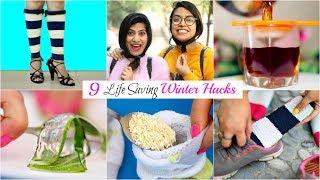 Download 9 LIFE Saving WINTER HACKS You MUST TRY | #BeautyHacks #Fun #Anaysa Video