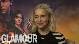 Download Emilia Clarke: Who's The Best Kisser, Jon Snow or Han Solo?   GLAMOUR UK Video