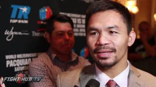 Download Manny Pacquiao laughs at Floyd Mayweather wanting to fight Conor McGregor Video