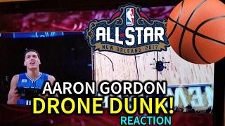Download Aaron Gordon Drone Dunk REACTION! - NBA All-Star Weekend 2017 Video
