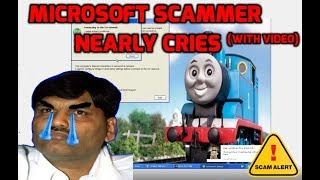 Download Microsoft scammer nearly CRIES! (confronted hard) Video
