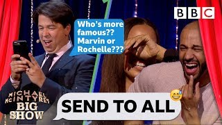 Download Send To All with Marvin and Rochelle Humes | Michael McIntyre's Big Show - BBC Video