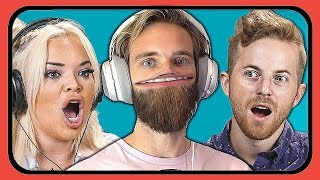 Download Reacting to YouTubers Reacting to Pewdiepie vs 🅱Series Video