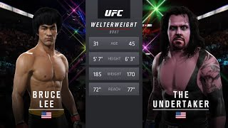 Download Bruce Lee vs. Undertaker (EA Sports UFC 2) - CPU vs. CPU Video