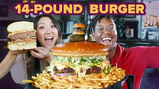 Download I Surprised My Friend With A Giant 14-Pound Burger • Giant Food Time Video