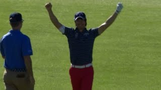 Download Ryo Ishikawa's magical hole out for eagle at Farmers Video