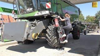 Download Mähdrescher Fendt 8410 P Agravis Technik Vorführung Getreideernte 2018 new combine harvester wheat Video
