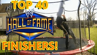 Download Top 40 WWE HALL-OF-FAMER Finishers on Trampoline Video