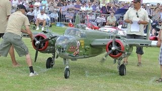 Download GIANT 1/3 SCALE RC B-25 MITCHELL 2 X 400 cc MOKI 5 CYL - WESTON PARK LEGENDARY FIGHTERS # 1 - 2014 Video