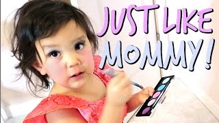 Download MAKEUP JUST LIKE MOMMY! - Dancember 19, 2016 - ItsJudysLife Vlogs Video