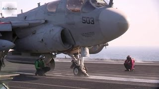 Download Aircraft Launch From USS George H.W. Bush In The Arabian Gulf Video