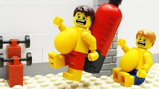 Download Lego Gym Food Fail - Body Building Video