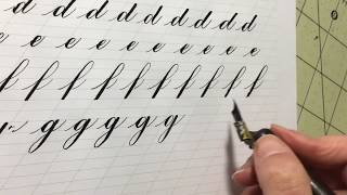Download How to Write the Lowercase Copperplate Alphabet: A-N | Calligraphy tutorial Video