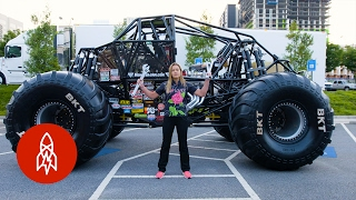 Download The Youngest Female Monster Truck Driver Builds Her Own Rides Video