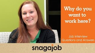 Download JOB INTERVIEW questions and answers (Part 2): Why do you want to work here? Video