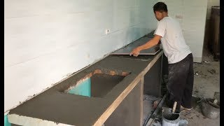 Download Techniques Install Kitchen Table With Ceramic Tiles - Construction Design Kitchen Table Video