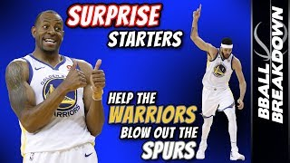 Download Surprise Starters Help Warriors Blow Out Spurs In Game 1 Video