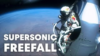 Download Felix Baumgartner's supersonic freefall from 128k' - Mission Highlights Video