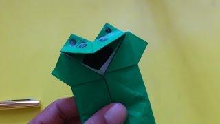 Download Cara Membuat Origami Boneka Katak Mulut Bergerak | Origami Binatang Video