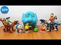 Download đồ chơi Doremon chế hài - chú voi con của Nobita , xeko và chaien cưỡi rồng lego Video