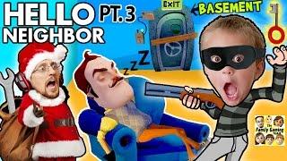 Download SANTA CLAUS ROBS HIS SLEEPY NEIGHBOR & Enters His Basement! (FGTEEV Hello Neighbor Part 3 w/ GUN) Video