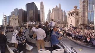 Download VR 360: Cubs parade bus crosses Chicago River Video