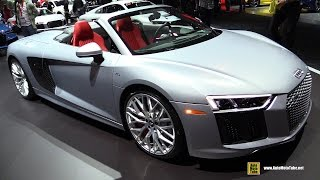 Download 2017 Audi R8 V10 Spyder - Exterior and Interior Walkaround - 2017 New York Auto Show Video