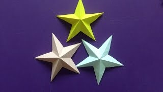 Download How to make a 3D paper star | Easy origami stars for beginners making | DIY-Paper Crafts Video