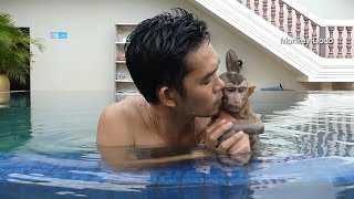 Download Baby Dodo And His Parent Go Out To Swimming Pool On Weekend Day, Dodo Much Happy Video