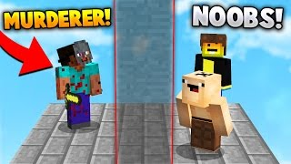Download TWO NOOBS HIDE FROM A MURDERER! | Minecraft MURDER MYSTERY Video