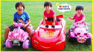 Download Emma and Kate Riding Power Wheels for the First time on their own!!!! Video