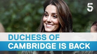 Download Duchess Kate Middleton returns to work after maternity leave for the birth of Prince Louis - 5 News Video