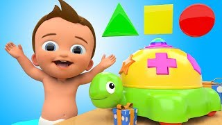 Download Learn Colors and Shapes with Baby Tortoise Toy Cartoon Animals 3D Kids Toddler Learning Educational Video