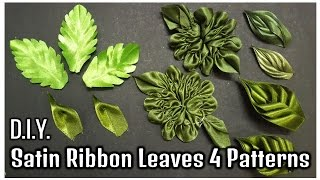 Download D.I.Y. Satin Ribbon Leaves | 4 Patterns | MyInDulzens Video