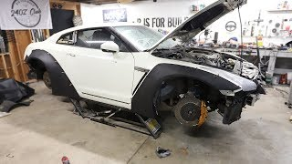 Download Parts are in!! Test Fitting the Wide Body Kit on the GTR Video