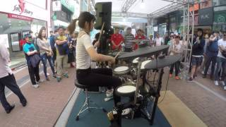 Download 여자드러머 김미소 미션임파서블 드럼 연주 drummer misokim mission impossible(cover) Video