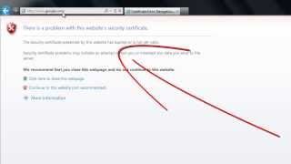 Download How to Remove Security Certificate error on Internet Explorer Video