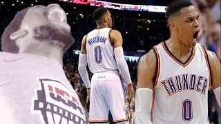 Download WESTBROOK INSANE FOUR POINT HALFCOURT SHOT! THUNDER vs JAZZ HIGHLIGHTS REACTION! Video