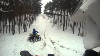 Download ATV crash - polaris XP failed snowy hillclimb Video